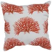 Orange Beaded Coral Pillow