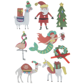 Mermaid Christmas 3D Stickers