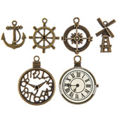 Antique Gold Nautical Charm Embellishments