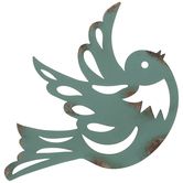 Distressed Bird Metal Wall Decor