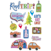 Road Trip 3D Stickers