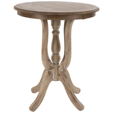 Spindle Wood Accent Table