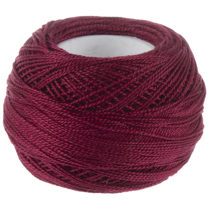 DMC Pearl Cotton Size 5 Color #814 Dark Garnet