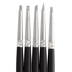 Size 0 Rubber Brushes - 5 Piece Set