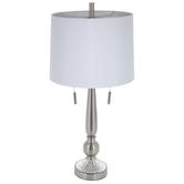 Brushed Steel Finial Lamp