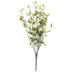 Ivory Mini Rose & Leaf Bush