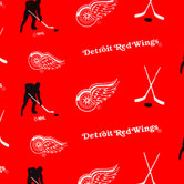 NHL Detroit Red Wings Allover Fleece Fabric