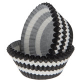 Black & White Striped Baking Cups