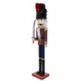 Plaid Wood Soldier Nutcracker