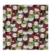 Green & Red Snowmen Gift Wrap