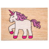 Cutesy Unicorn Rubber Stamp