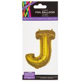 Gold Foil Letter Balloon - J