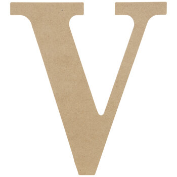 """Wood Letter V - 9 1/2"""""""