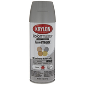 Nickel Krylon ColorMaster Brushed Metallic Spray Paint & Primer