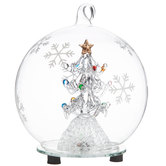 Light Up Tree Ball Ornament