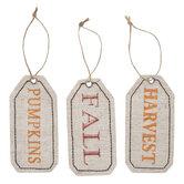 Fall, Pumpkin & Harvest Tag Ornaments
