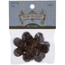 Brown Coconut Flower Buttons - 50mm