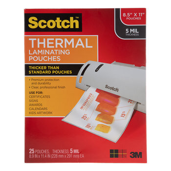 """Scotch Thermal Laminating Pouches - 8 1/2"""" x 11"""""""