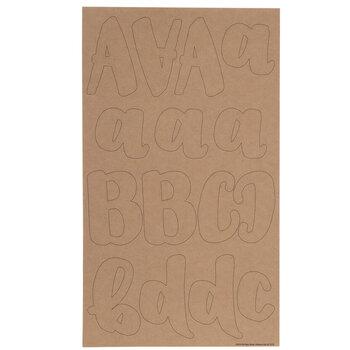 Kraft Handwritten Alphabet Stickers