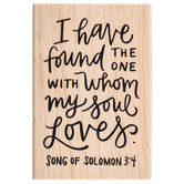 Song of Solomon 3:4 Rubber Stamp