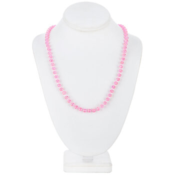 Hot Pink Beaded Necklaces