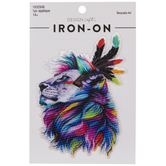Rainbow Lion Iron-On Applique