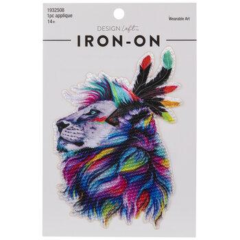Rainbow Lion Iron-On Applique