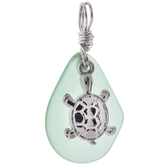 Turtle & Glass Teardrop Pendant