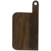 Offset Herbal Sprig Wood Cutting Board