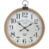 Vintage Wood Wall Clock