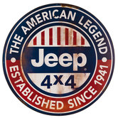 Jeep Metal Sign