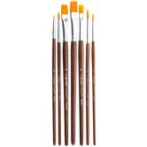 Gold Nylon Paint Brushes - 7 Piece Set