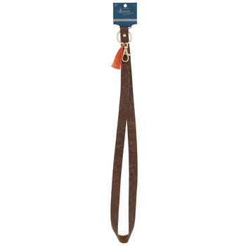 Floral Leather Lanyard