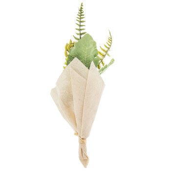 Green Succulent Cloth Wrapped Bouquet