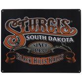 Sturgis Motorcycle Rally Metal Sign