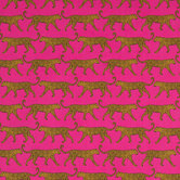 Pink Jaguar Apparel Fabric