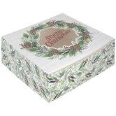 Merry Christmas Wreath Pie Box