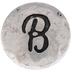 Hammered Letter Mini Snap Charm - B