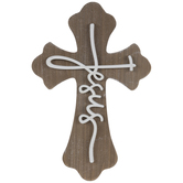 Jesus Wood Wall Cross