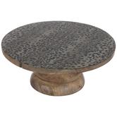 Leopard Print Wood Cake Stand