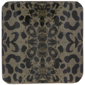Gray Leopard Print Wood Coasters