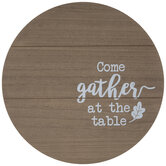 Gather At The Table Wood Lazy Susan