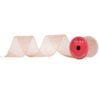 """Rose Gold Wired Edge Ribbon - 3"""""""