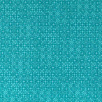 Turquoise Cherish Geometric Apparel Fabric