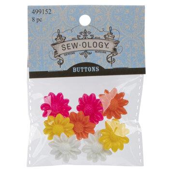 Mum Flower Shank Buttons