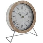 Whitewash Kensington Wood Clock