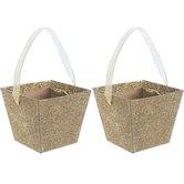 Gold Glitter Buckets