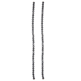 Round Faceted Plated Hematite Bead Strands