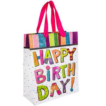 Happy Birthday Glitter Gift Bag