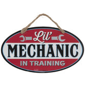 Lil Mechanic In Training Metal Sign